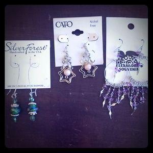 3 pairs fashion earrings